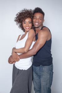 Yaya DaCoasta Alafia as Whitney Houston and Arlen Escarpeta as Bobby Brown in upcoming lifetime biopic Photo credit:  Lifetime/Jack Zeman