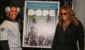 Mona Scott Young and son Justin at DOPE NYC screening Photo credit: 135th Agency| Matthew Hayek